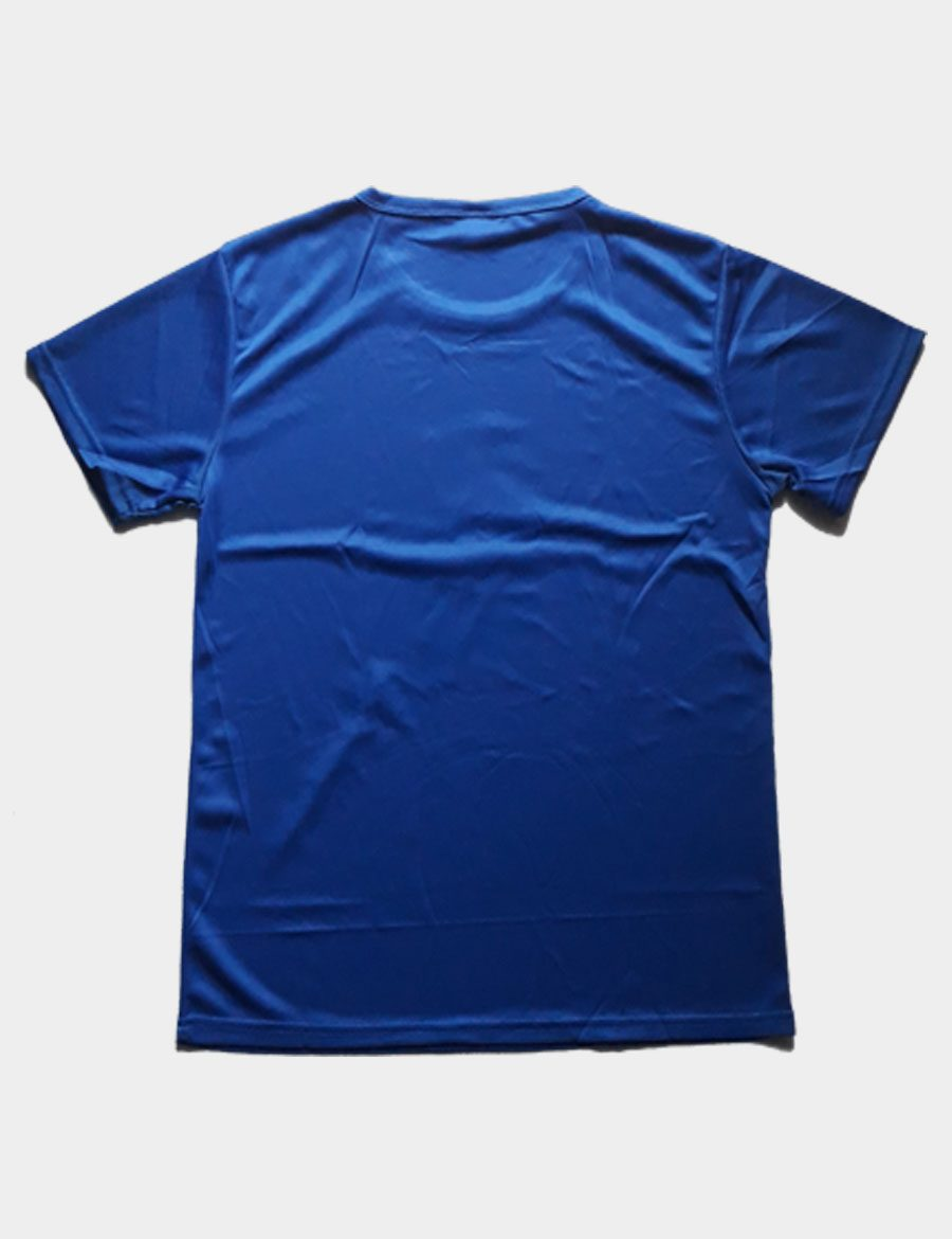 NBA Basketball T-shirt with Jerry West Logo Color Blue Back View