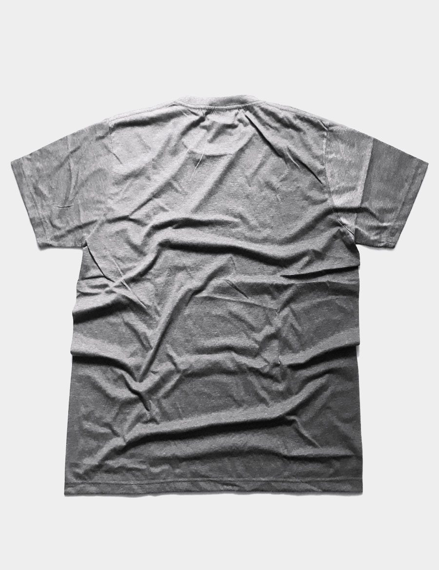 Basic Plain T-shirt Color Dark Grey Back View