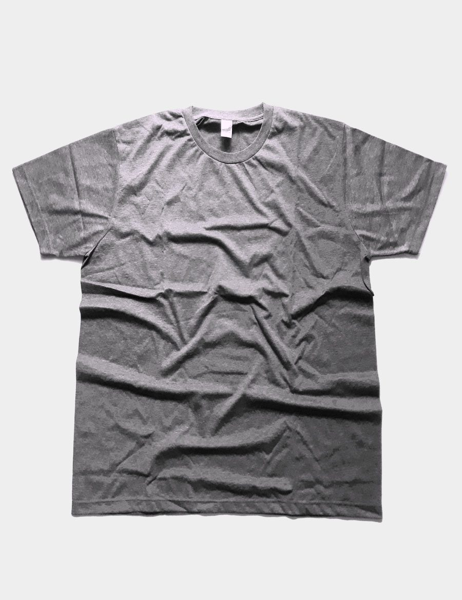 Basic Plain T-shirt Color Dark Grey Front View