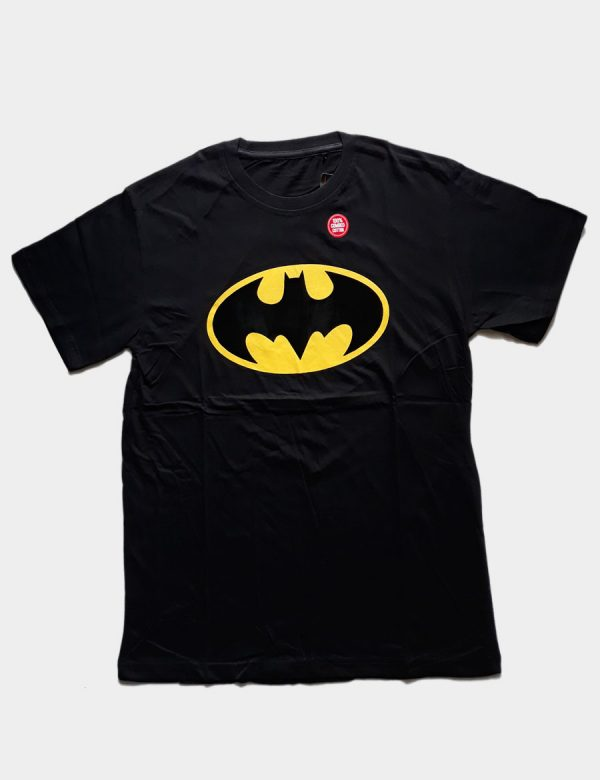 Black T-shirt with Batman Silhouette Front View