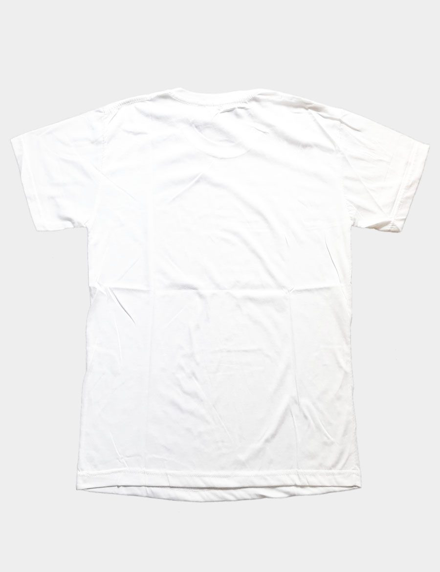 White 1 Soft T-shirt Back View